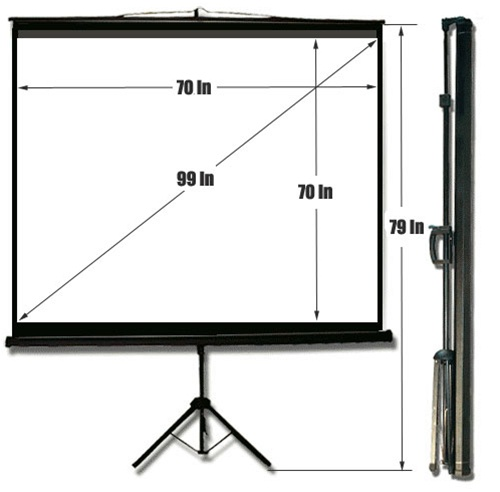 70″ x 70″ Tripod Projection Screen for rent