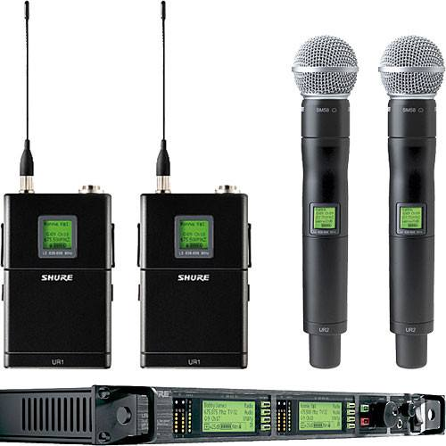 Shure UHF-R Professional Wireless Mic System for rent