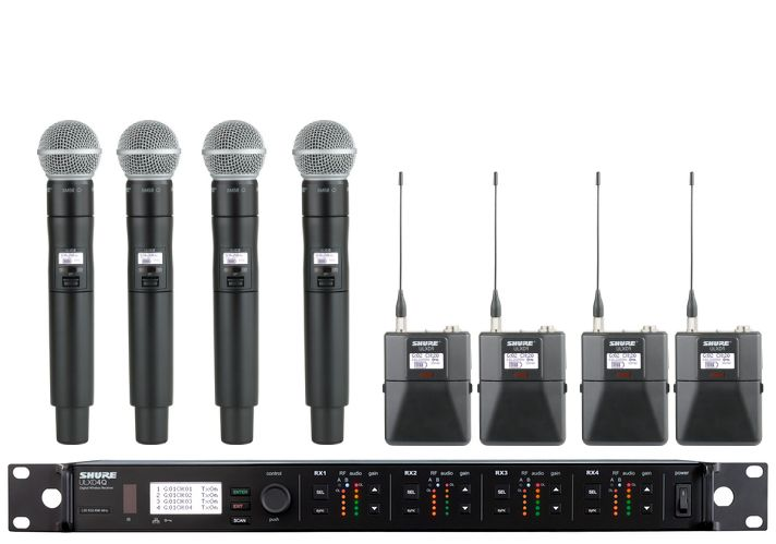 Shure ULXD4Q Digital Wireless Mic System for rent