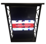 Black Truss Lectern for rent