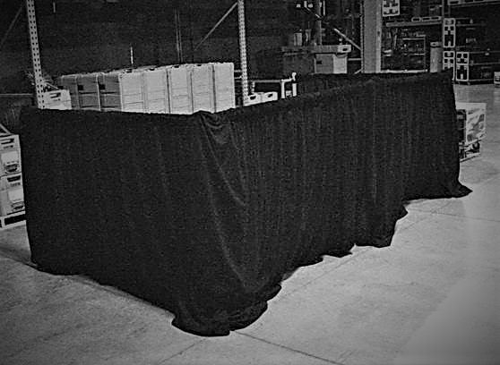 Tech Booth Drape Kit for rent