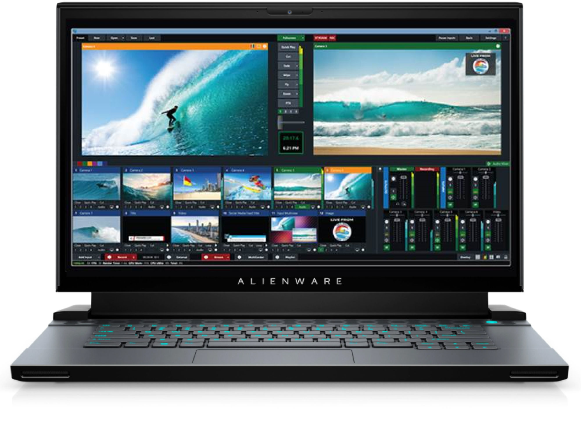 vMix Pro Package featuring Alienware m15 R3 with RTX2070 Super for rent
